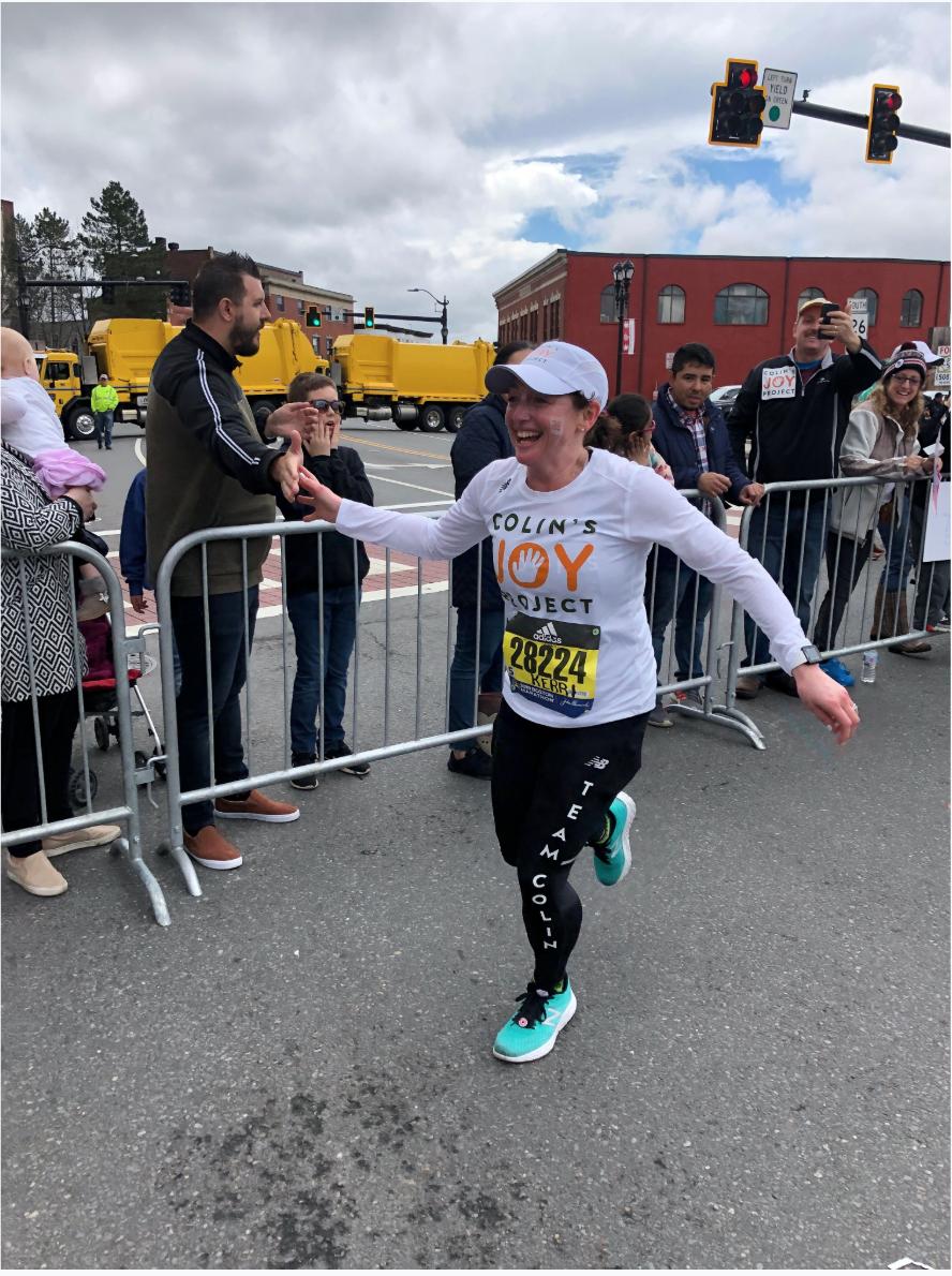 Kerri McGrath running for Team Colin