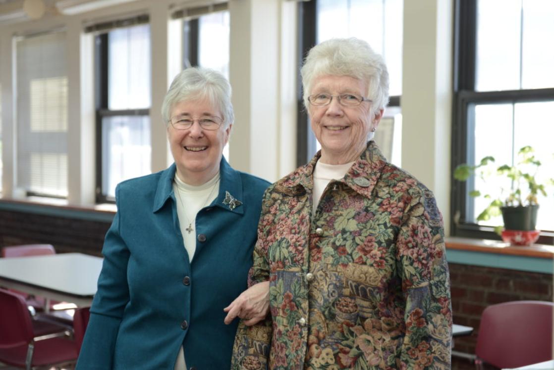 Sister Jean Sullivan and Sister Louise Kearns