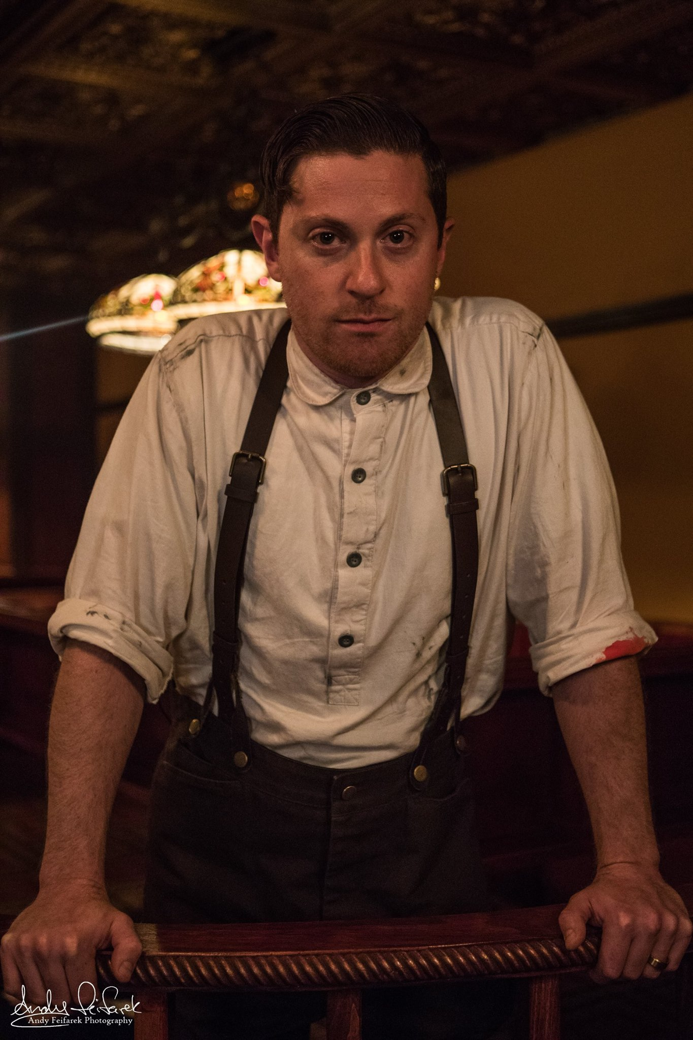 As Archie in  The Speakeasy  at Boxcar Theatre (Photo credit: Andy Feifarek)