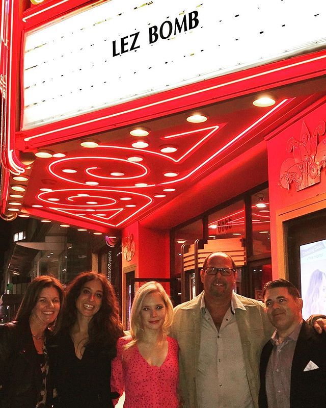 Beautiful screening of @lezbombmovie Saturday evening with the one and only @jennalaurenzo and her wonderful castmate Caitlin Mehner! Great laughs and even better crowd! Thank you to all who came!