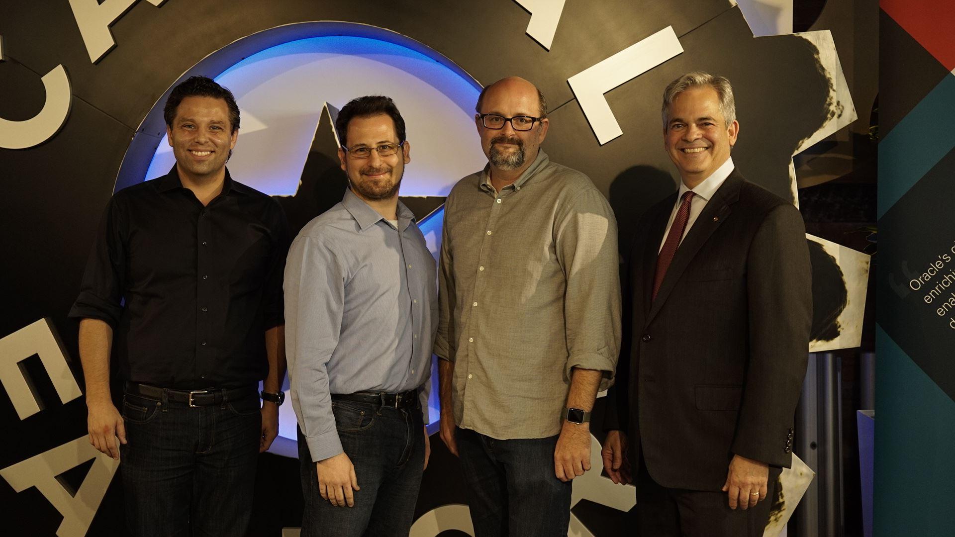 ResilientGrid's leadership team with Austin Mayor Steve Adler