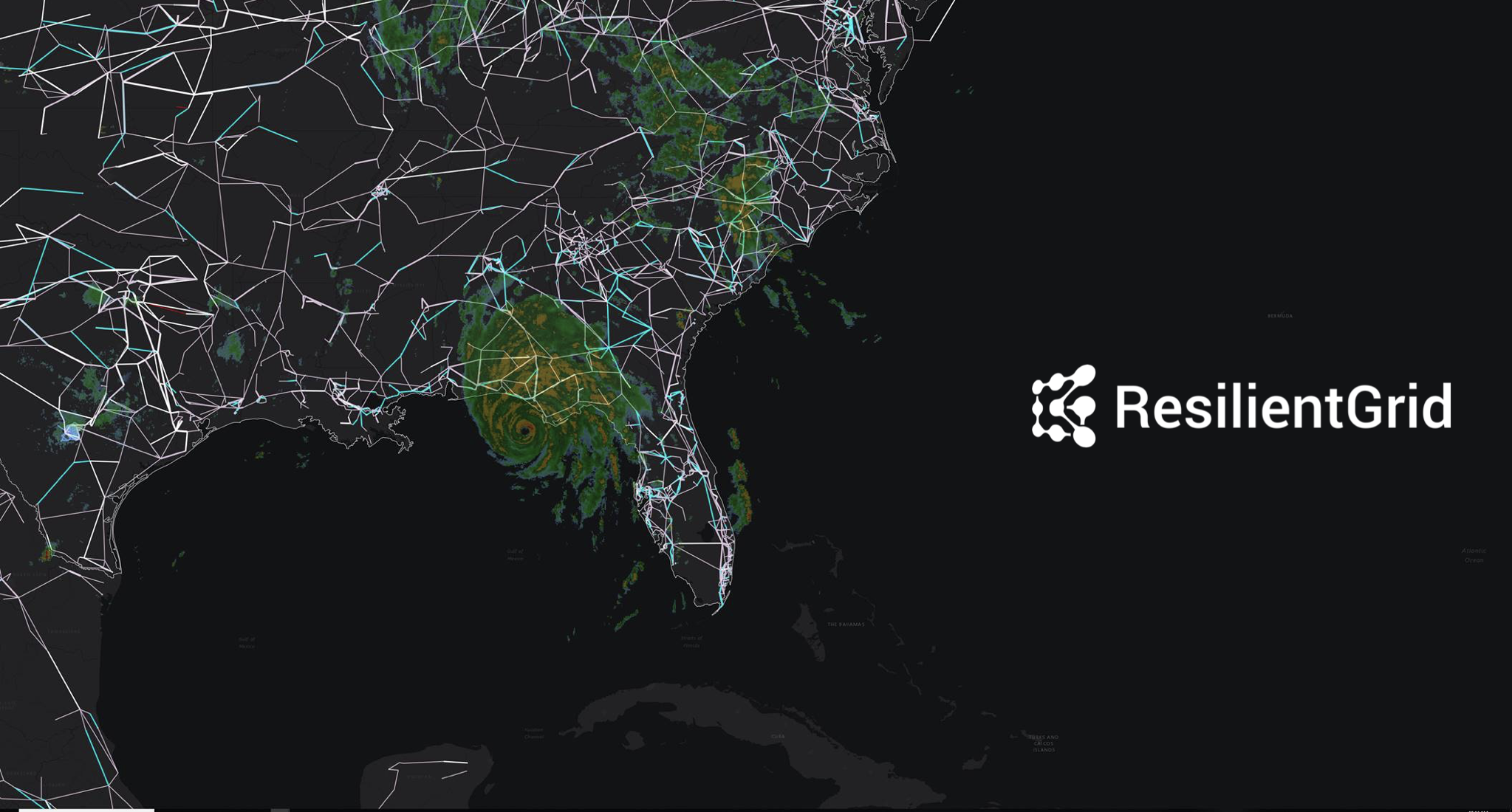ResilientGrid OS™ US National Grid with Hurricane Michael.png