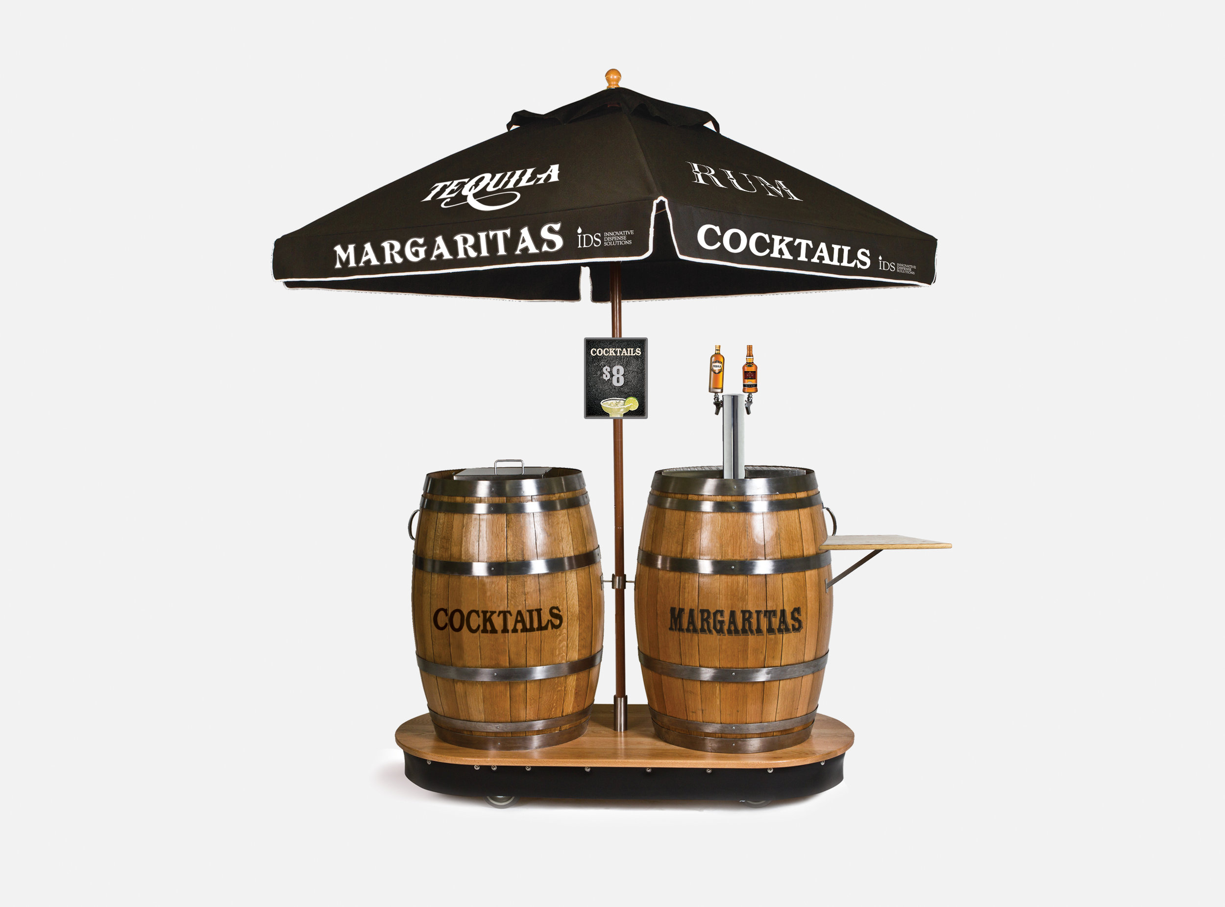 Cocktail Dual Barrel Dispenser