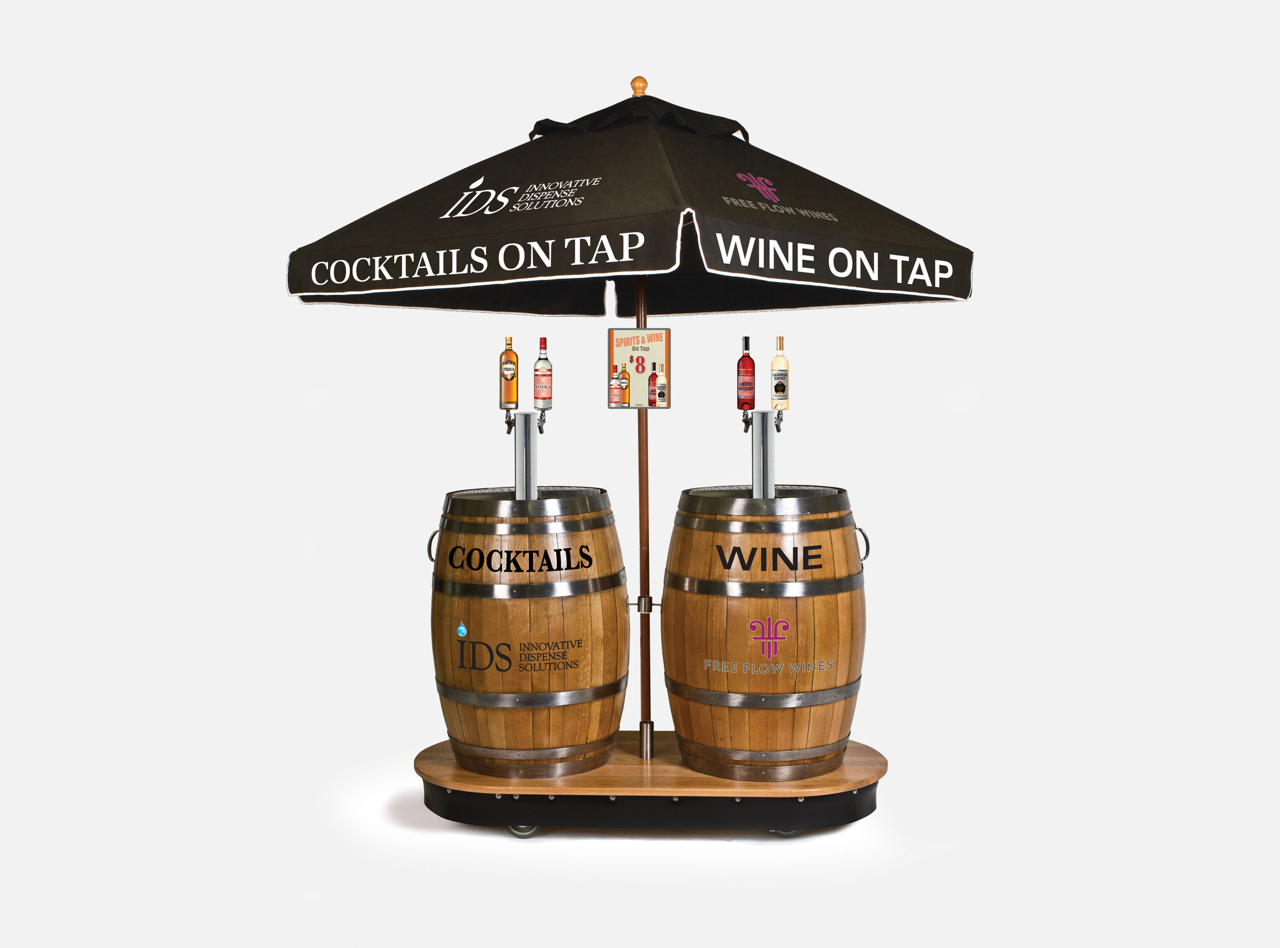 Cocktail and Wine Dual Barrel Dispenser