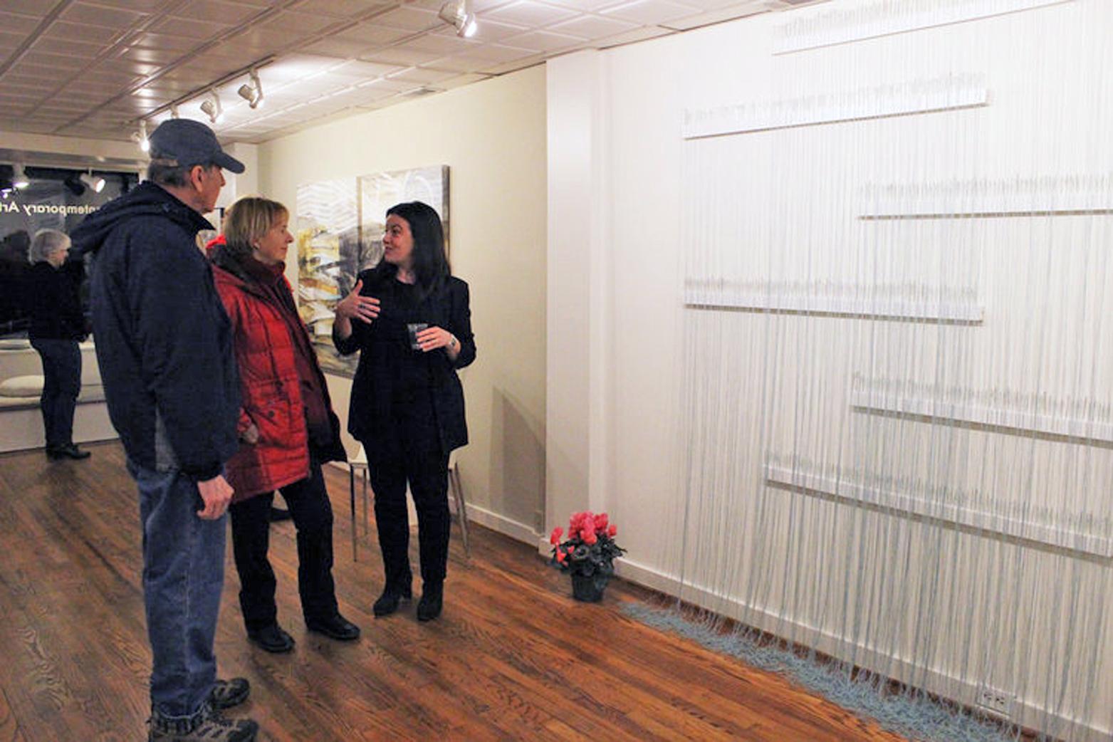 Nicole Salimbene sharing her work with guests