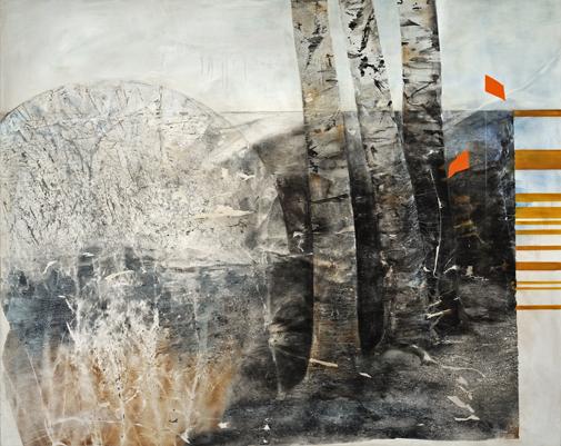 White Birch - Power Line by Jo Fleming