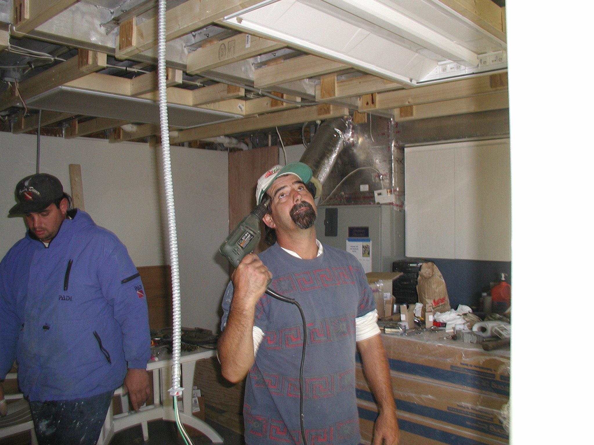 Jay fitting galley overhead.JPG