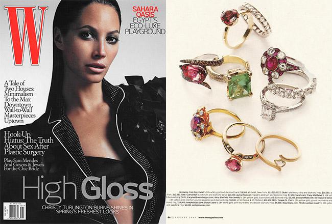 Sapphire Blossom Solitaire Ring, W Magazine
