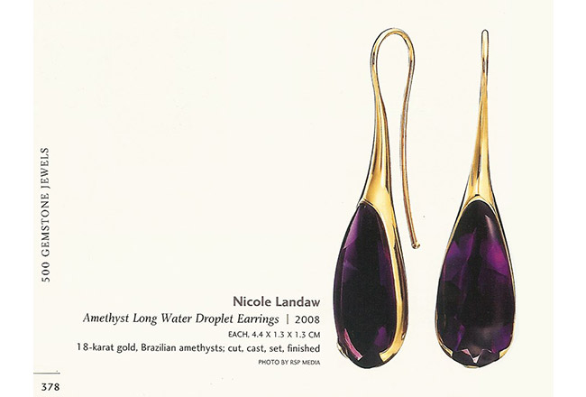 "Amethyst Water Droplet Earrings in ""500 Gemstone Jewels"""