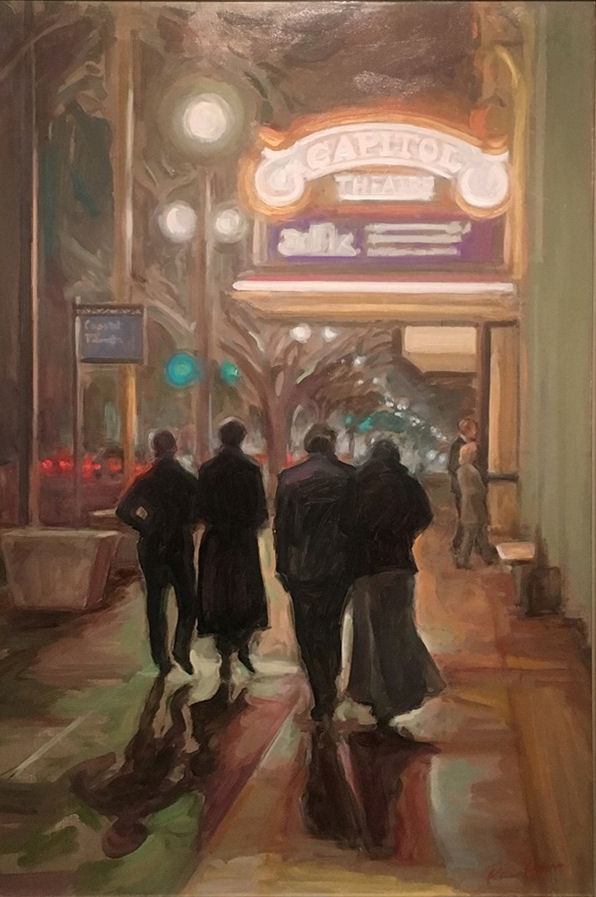 Karen Horne, A Foggy Night at the Capitol Theatre, 30x20, oil, rv. lg WEB.jpg