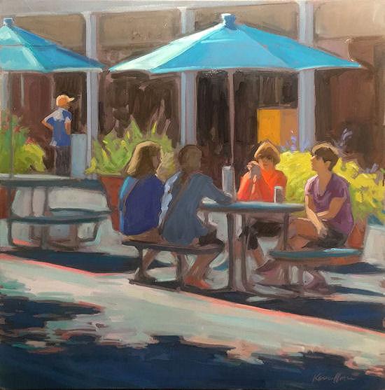Karen Horne, Afternoon on the Plaza, oil, 24x24.jpg