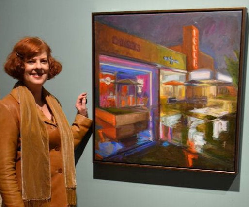 Karen Horne with Reflections on 9th and 9th.jpg