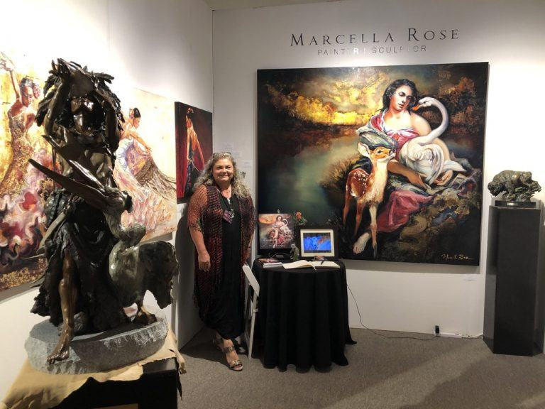 Marcella Rose, pictured here at as one of the exhibitors at a prestigious show last summer
