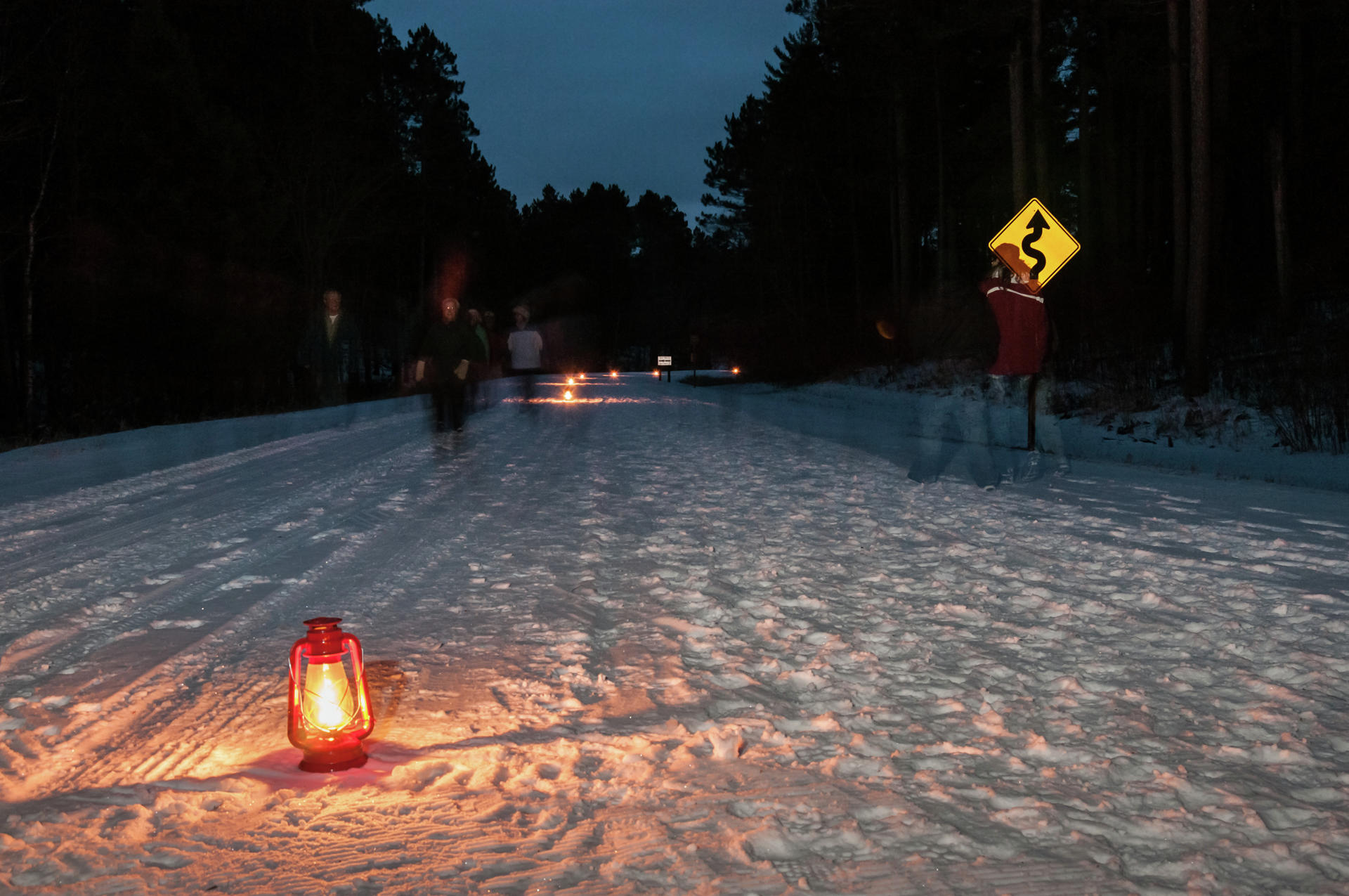 Hikers, snowshoers and cross country skiers are all welcome to hit the trail for next Saturday's Lantern Lit Ski & Snowshoe event at Itasca State Park. The 1.5-mile trail is located south of the park entrance. (Minnesota DNR photo)