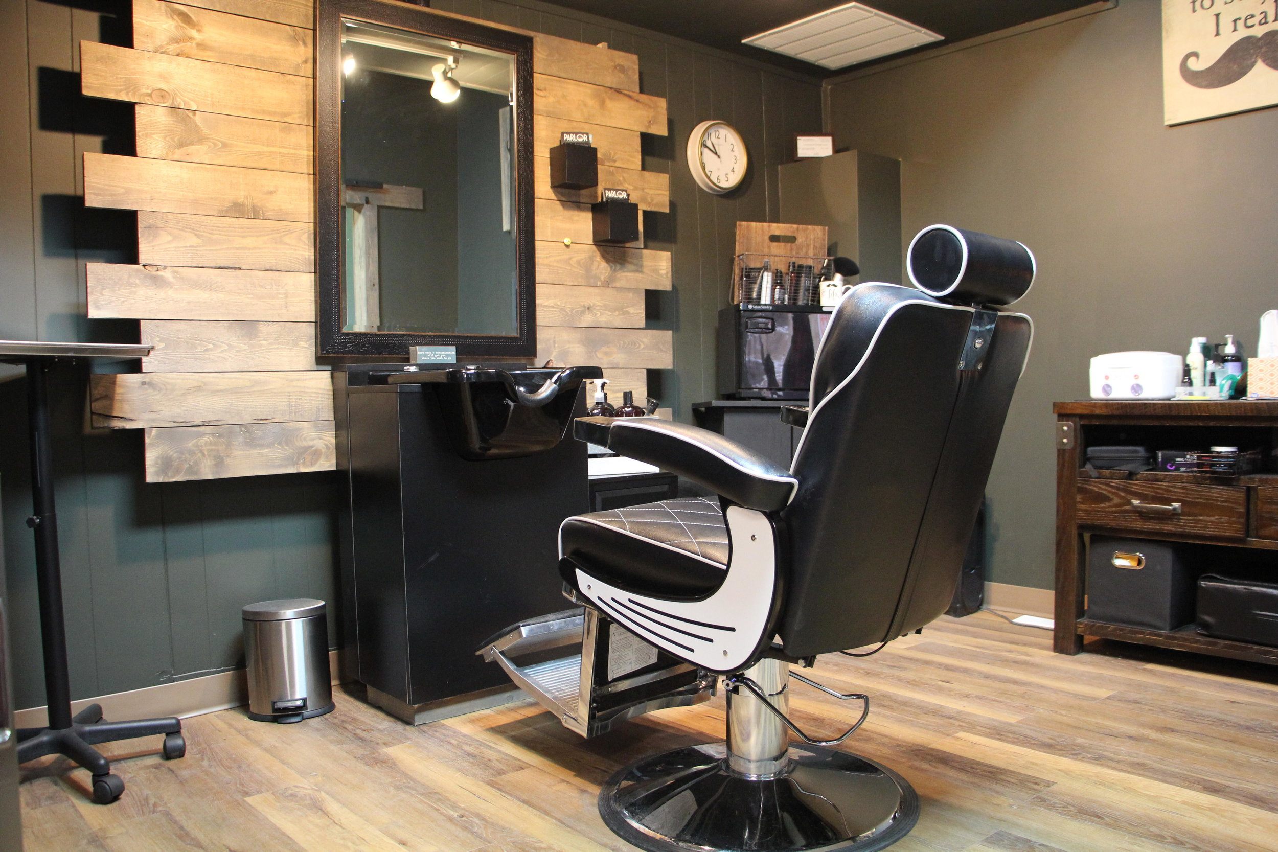 Parlor 102 has a three-room design, so clients can have their own space when getting a cut or style. Kaysey Price / Tribune