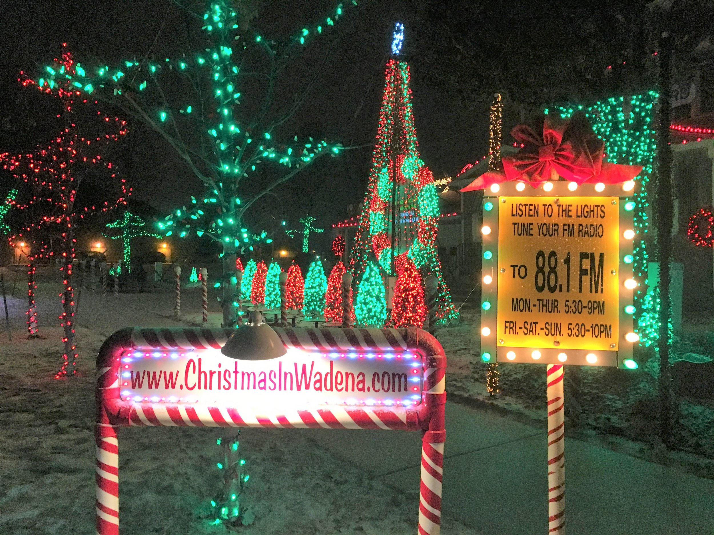 """The """"Christmas in Wadena"""" show is on display next to the Wadena-Deer Creek School at the home of GP Anderson each year during the weeks prior to and after Christmas. Michael Johnson/Pioneer Journal"""