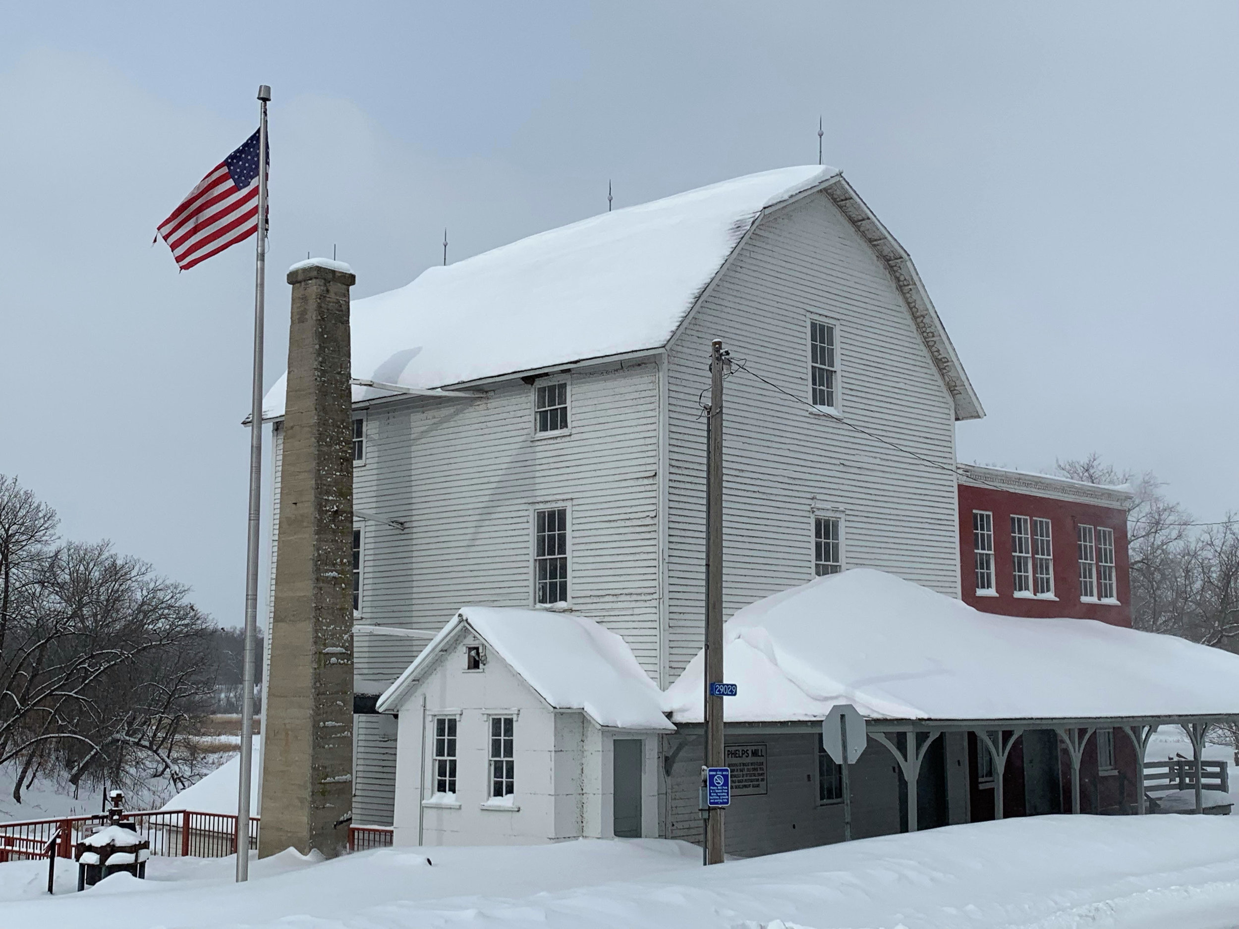The foundation of Phelps Mill in central Otter Tail County is in need of repairs, and the county board has pledged to do what's necessary to maintain this historic treasure. (Tom Hintgen / Perham Focus)