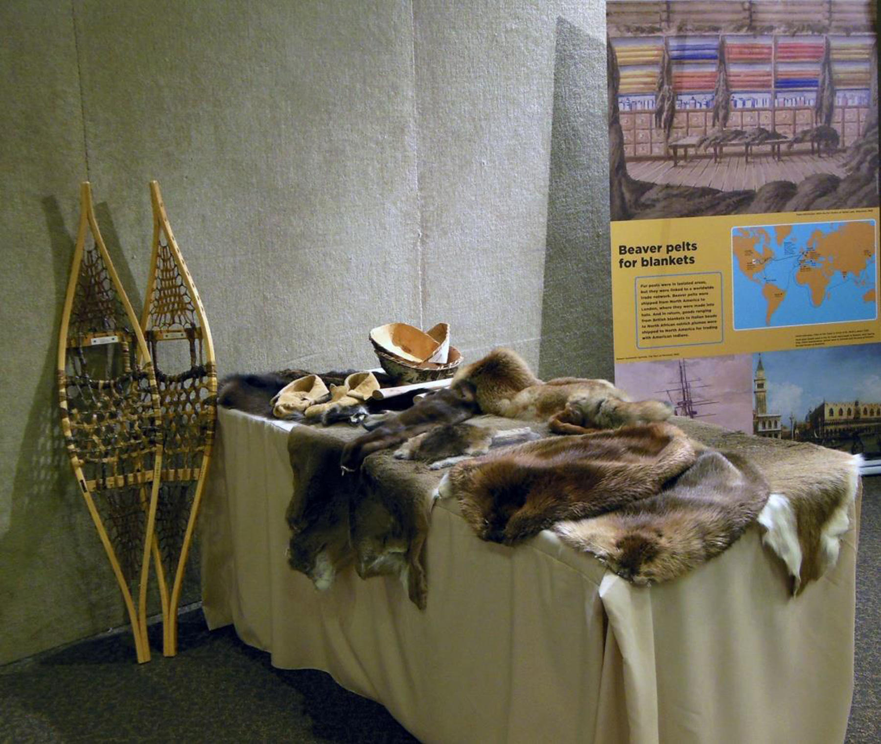 "This is one example of some of the interactive displays and activities that will be included with the ""Fur Trade in Minnesota"" exhibit, which will be on display in Detroit Lakes through June 23. (Submitted photo)"