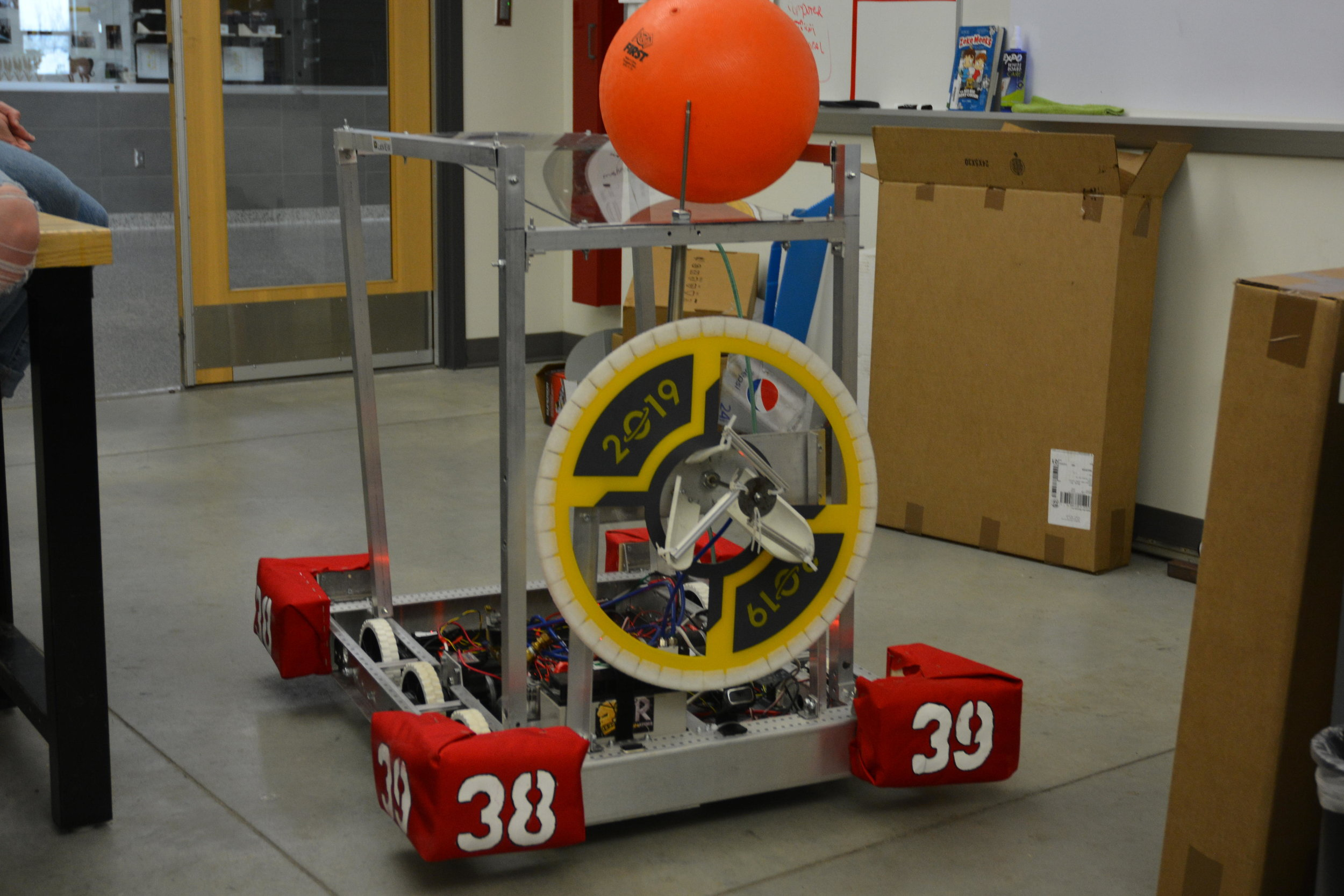 The team designed a robot to compete in a space inspired competition in Grand Forks. Michael Denny/Wadena Pioneer Journal