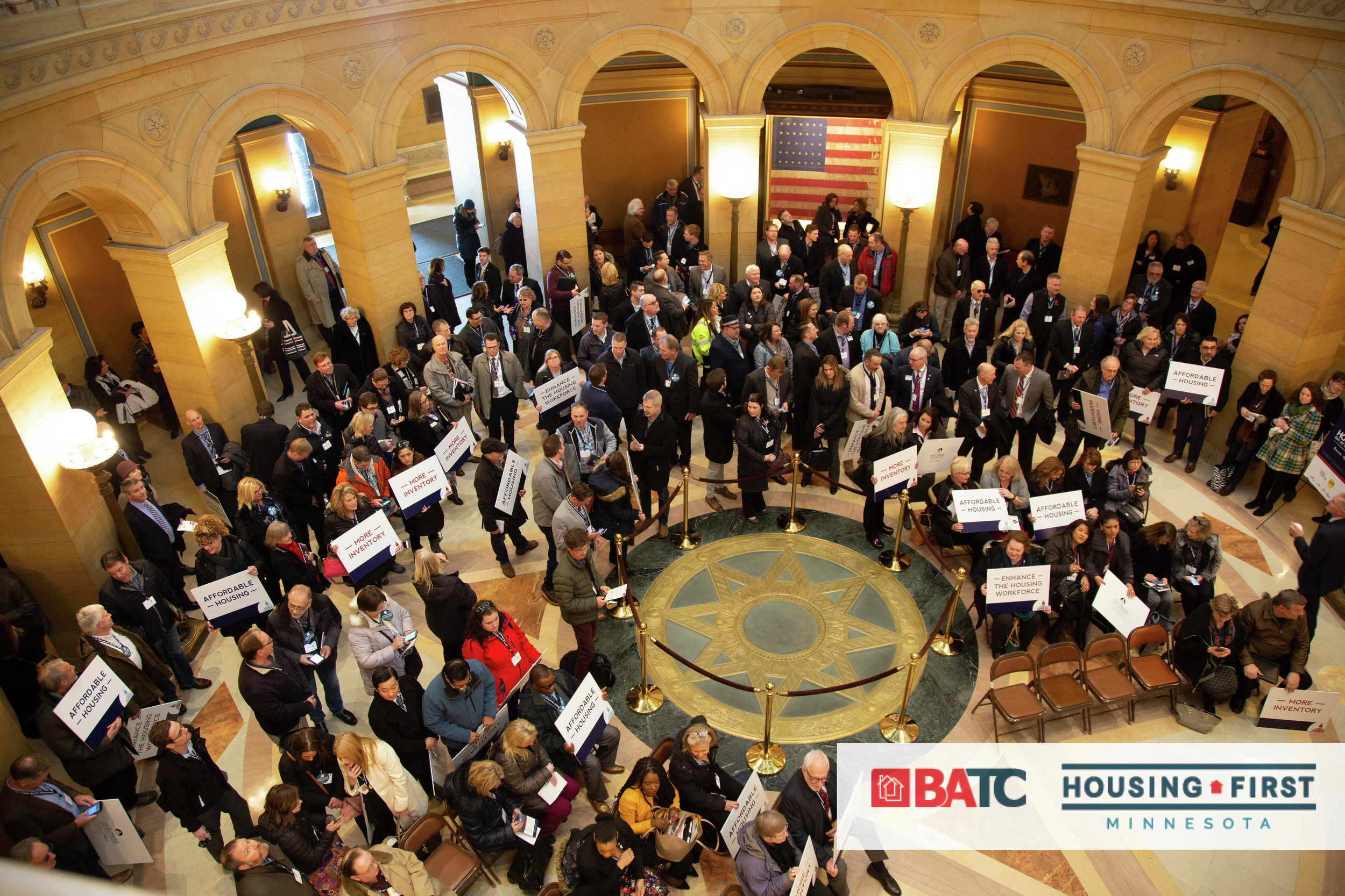Minnesota realtors gathered at the Capitol Monday to discuss housing with legislators. Submitted Photo