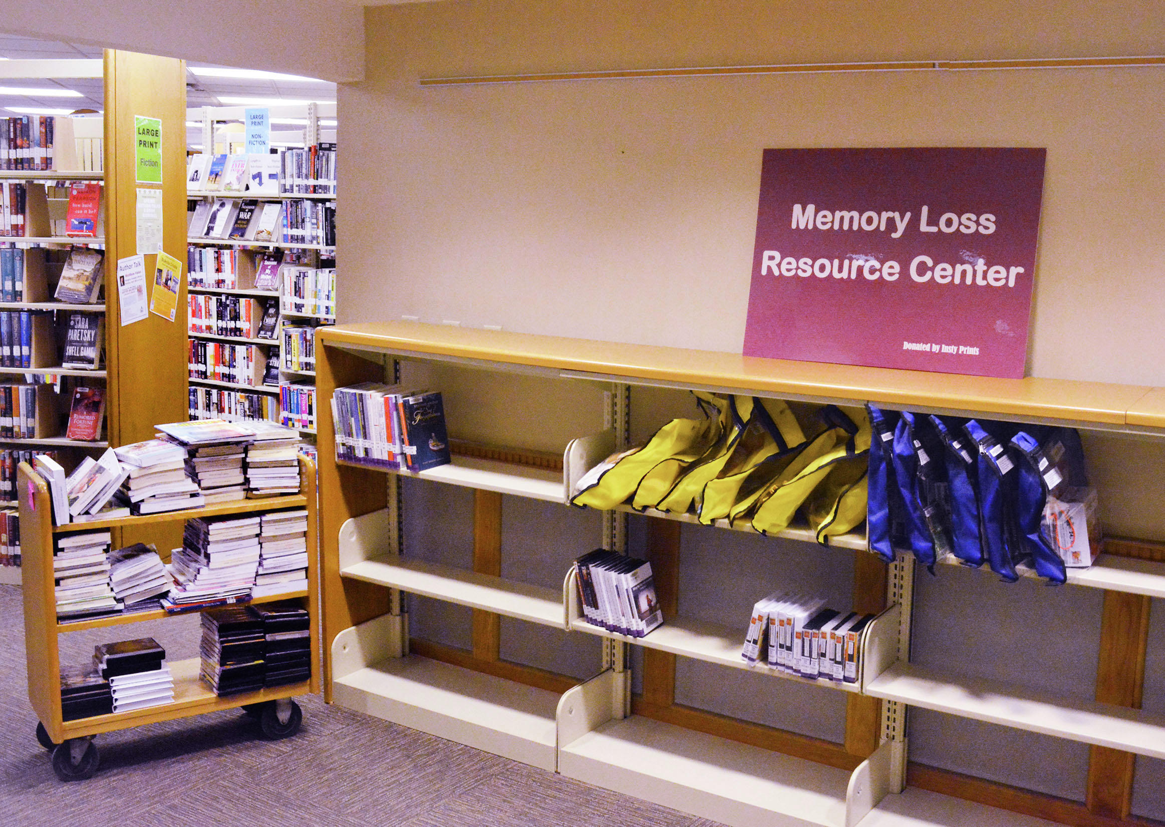 Douglas County Library was in the process last week of setting up a Memory Loss Resource Center. (Ari Leuthner / Echo Press)