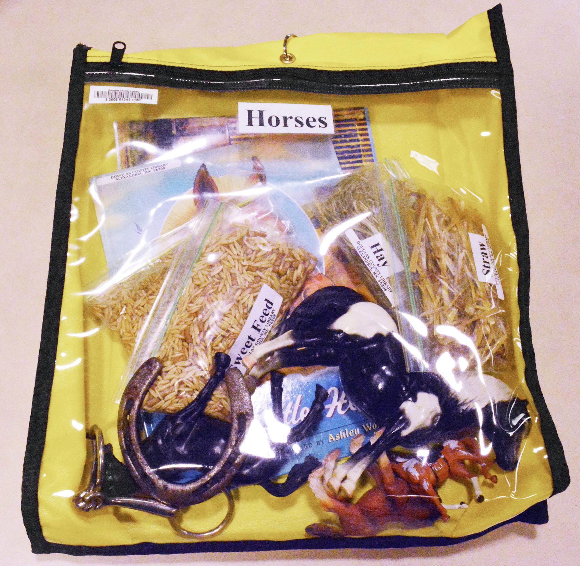A memory kit that contains objects related to horses is one of several hoped to spark memories in people with dementia. (Ari Leuthner / Echo Press)