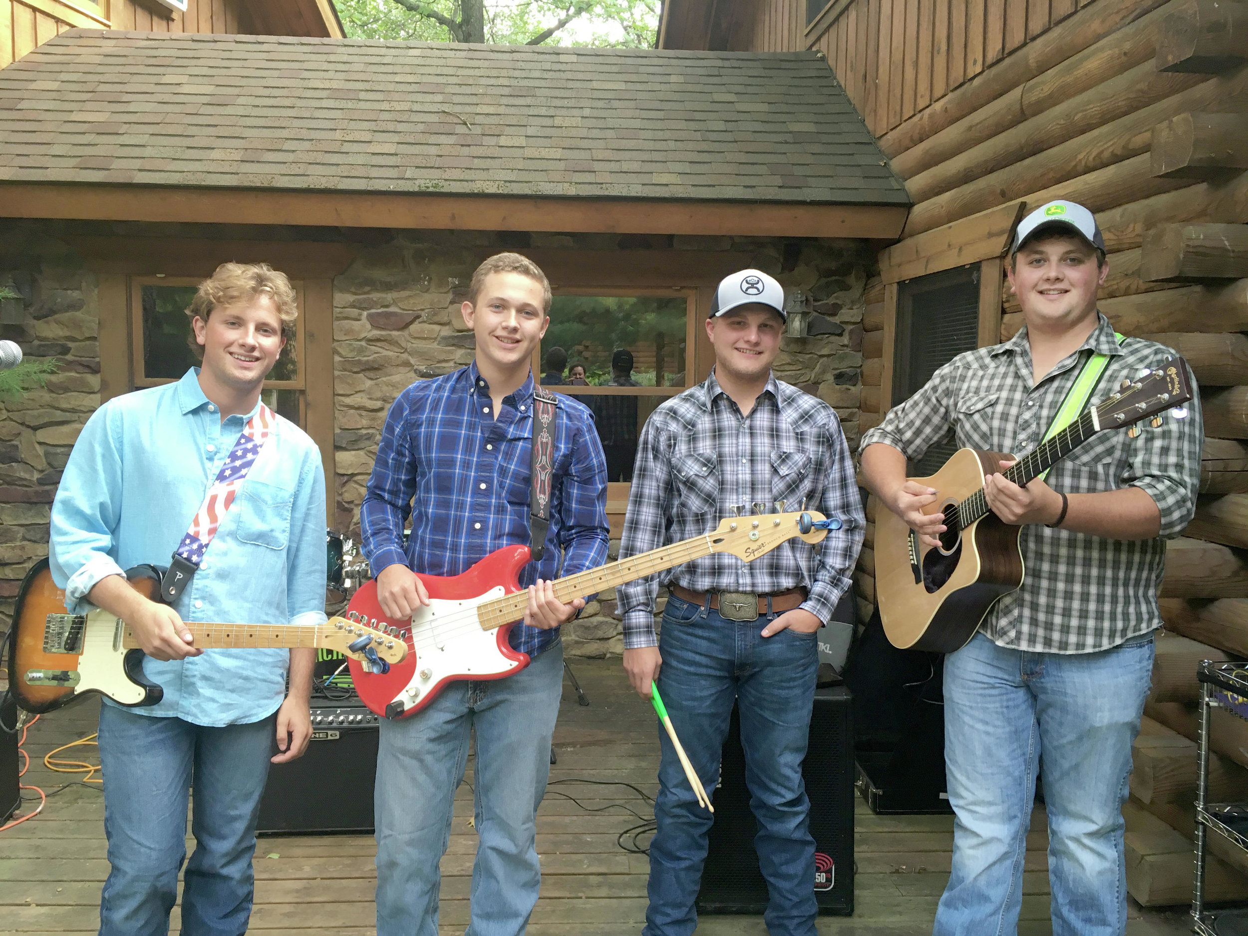 Tim Walsh, Dan Walsh, Derek Reichling and Jack Walsh form the band Incredibly Real, which will play at the Firemen's Ball on March 23 at the Park Rapids Fire Hall. (Submitted photo)
