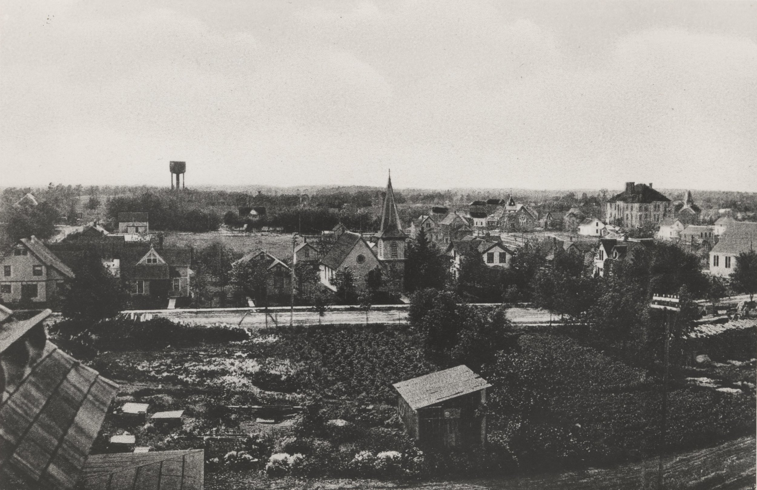 This 1892 image from the Becker County Museum's files shows Detroit Lakes — or the village of Detroit, as it was then known — as it appeared from atop the Hotel Minnesota, looking westward.