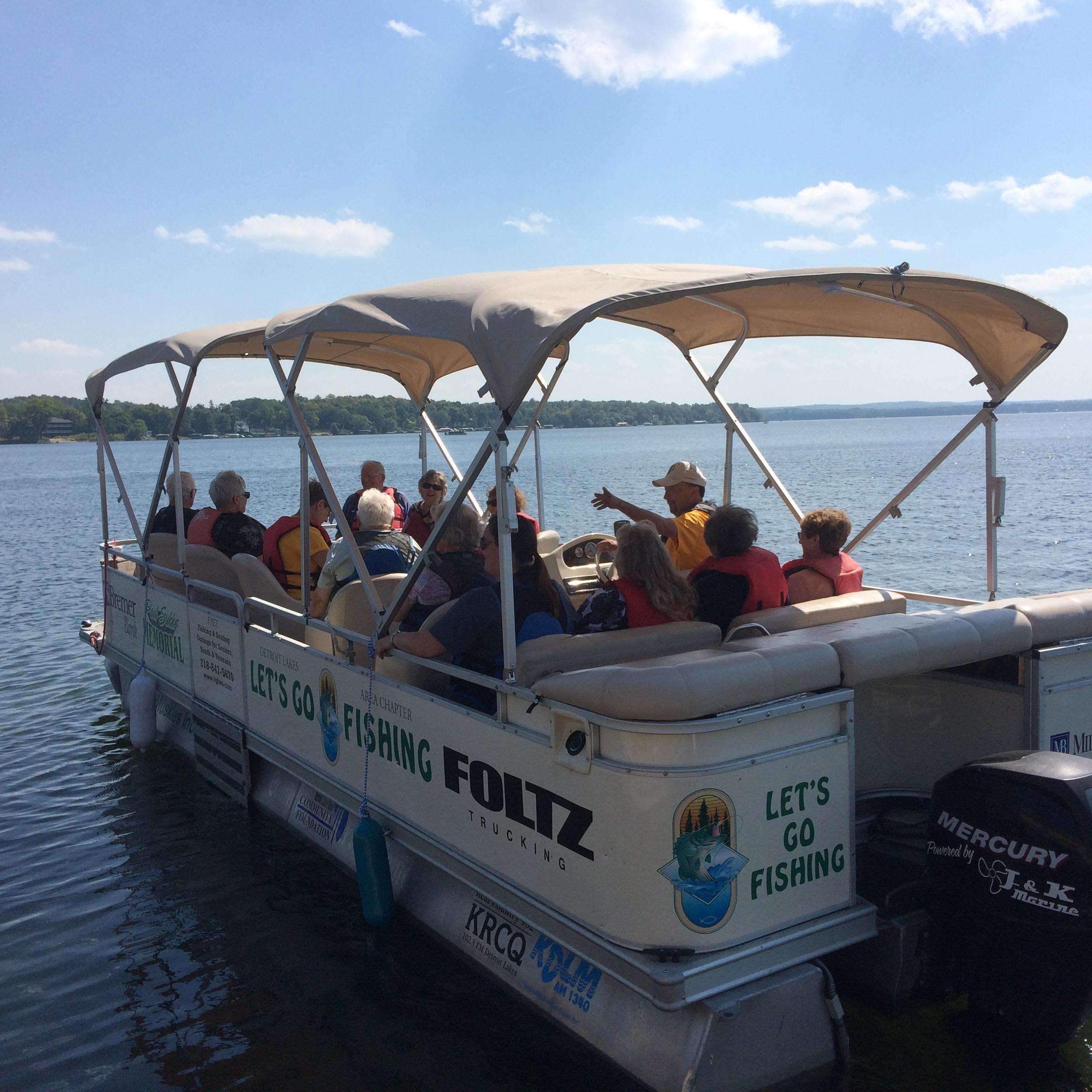 Some trips scheduled with the Detroit Lakes chapter of Let's Go Fishing are more of the scenic variety, with the pontoon captain pointing out some points of interest along the way. (Submitted photo)