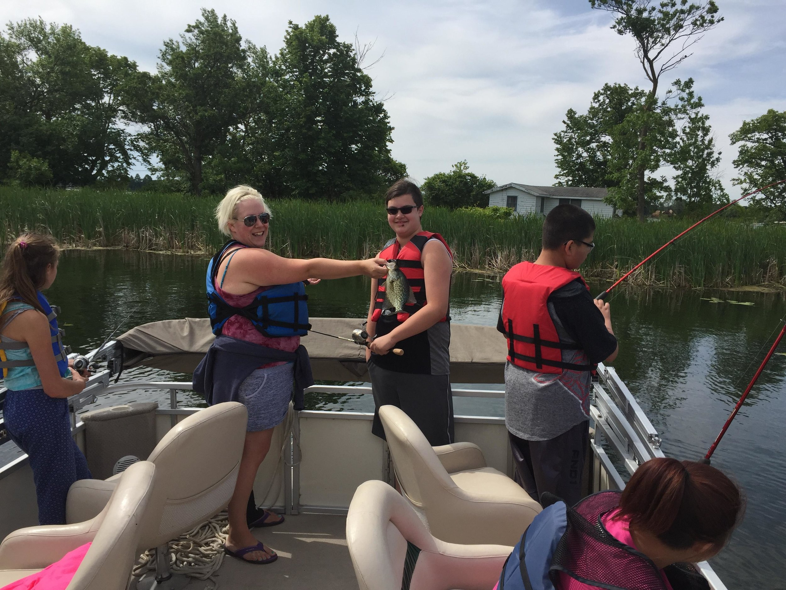 Youth groups including the local Boys & Girls Club also regularly schedule trips with the Detroit Lakes chapter of Let's Go Fishing. (Submitted photo)