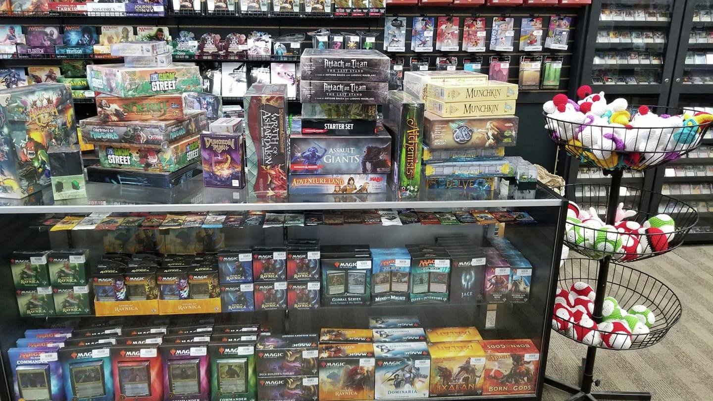 Ultima Gaming stocks a wide variety of board games, trading cards and video games. (Submitted)