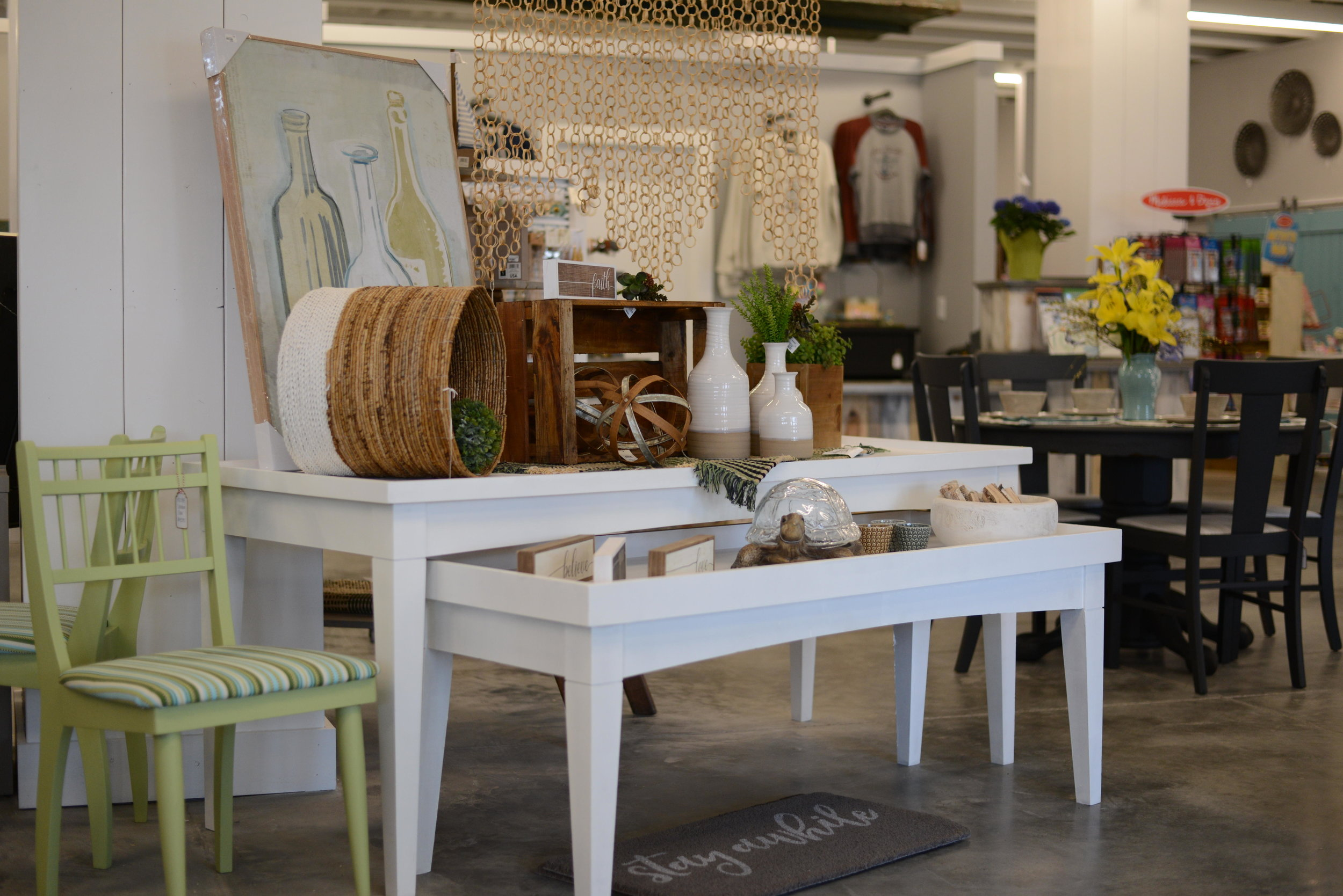 """Everything from furniture to souvenirs is on sale at Periwinkle Marketplace in Ottertail. """"It's a fun lake place,"""" Owner Stephanie Ellingson said. (Carter Jones/ FOCUS)"""