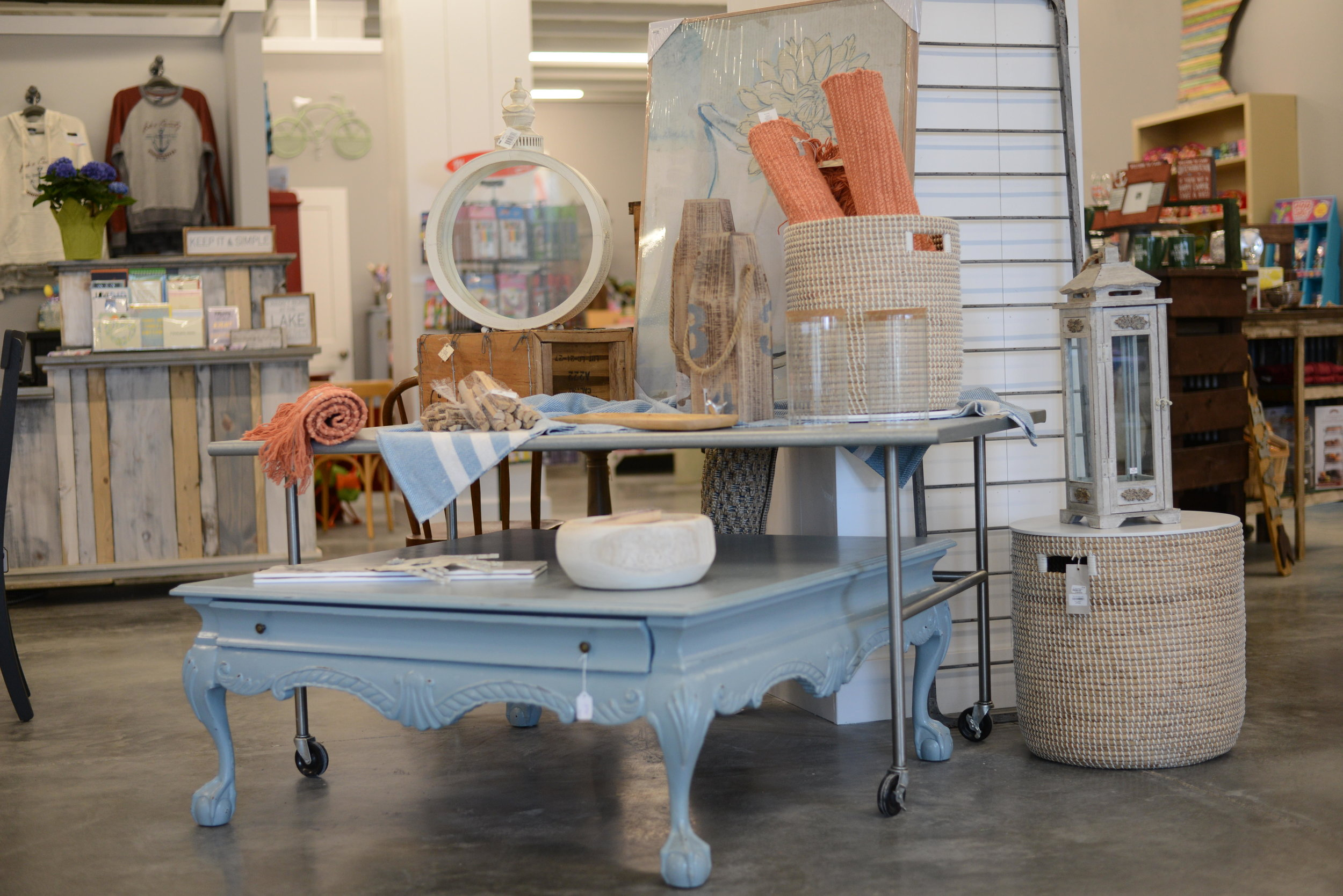 Everything from furniture to souvenirs is on sale at Periwinkle Marketplace in Ottertail.(Carter Jones/ FOCUS)