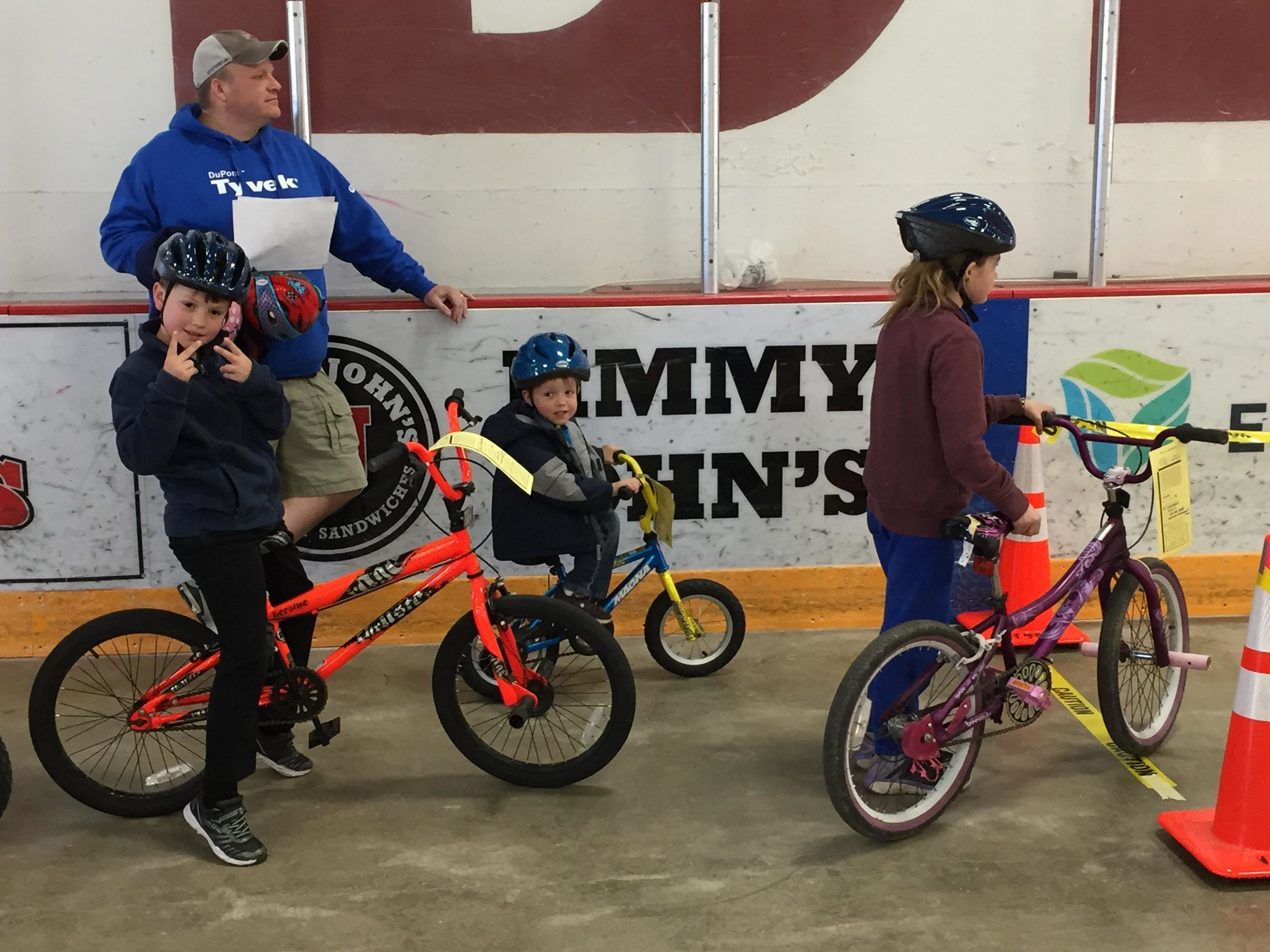 Kids of all ages, riding bikes appropriate to their size, will take part in the 9th Annual Detroit Lakes Bicycle Rodeo on Saturday, April 27 at Kent Freeman Arena. (Submitted photo)