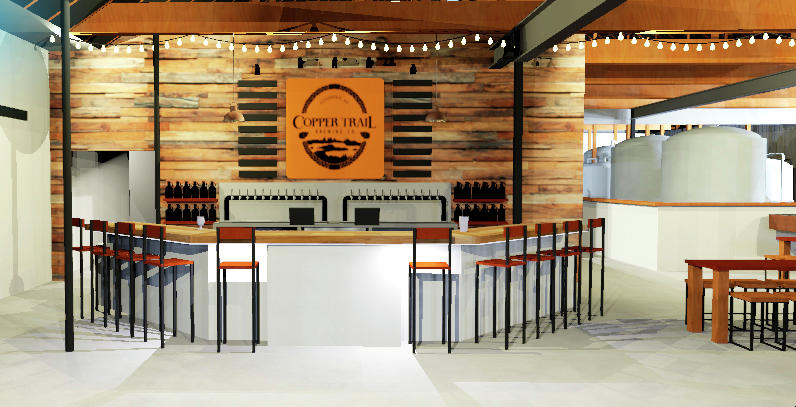 This is an illustration of what Copper Trail Brewing Company's new, larger location will look like. (Contributed)