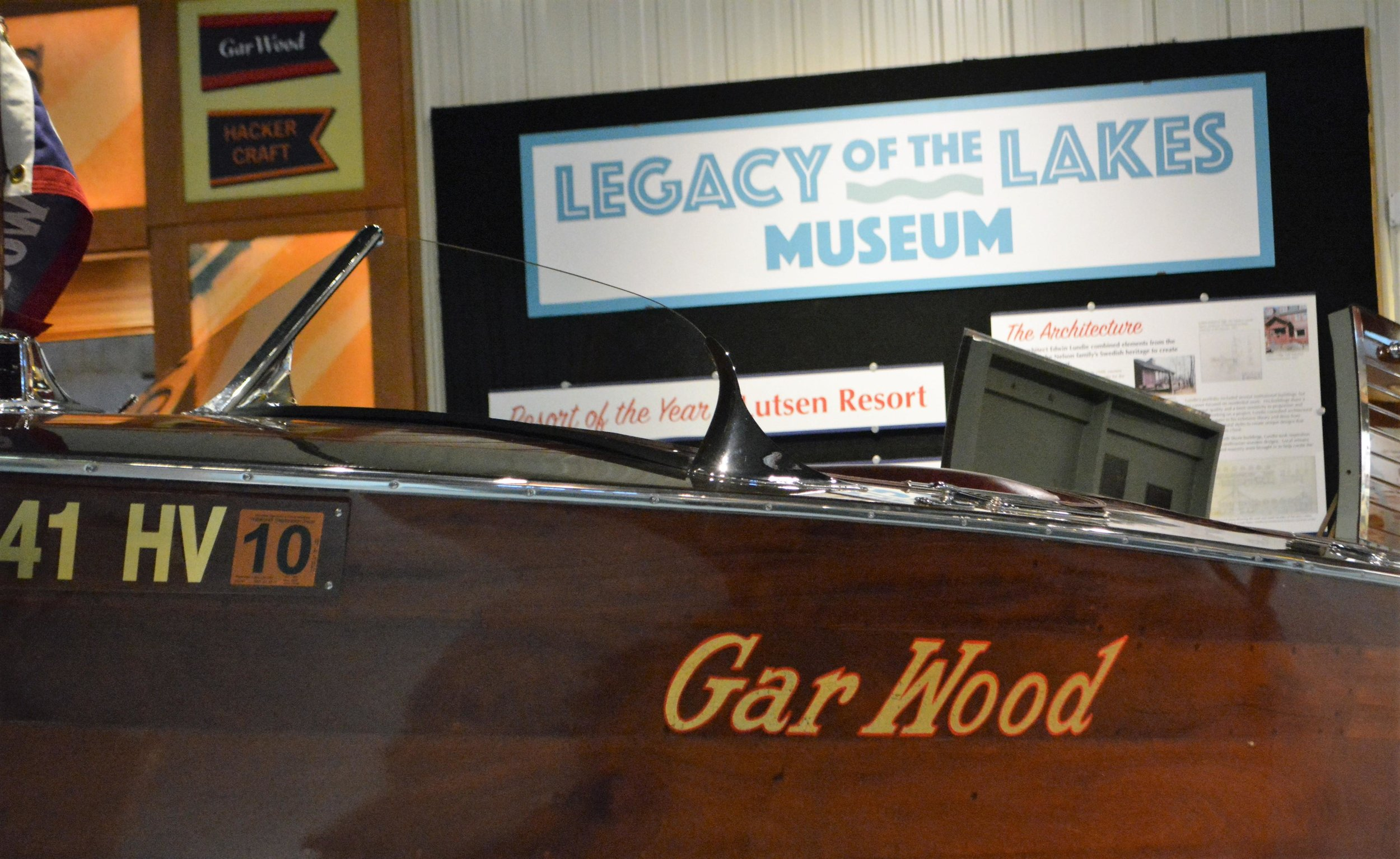 An 18-foot 1934 Gar Wood Runabout was a gift to the museum from Jack and Betty Thomas. (Ross Evavold / Echo Press)