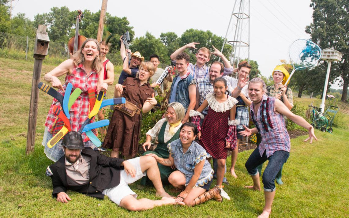 """The cast of """"The Clemency of Tito's Tennis Club: A Picnic Operetta"""" is poised to present this unique adaptation of Mozart's """"La Clemenza di Tito"""" this Saturday, Sept. 15 at 2 p.m. in the New York Mills Sculpture Park. (Submitted photo)"""