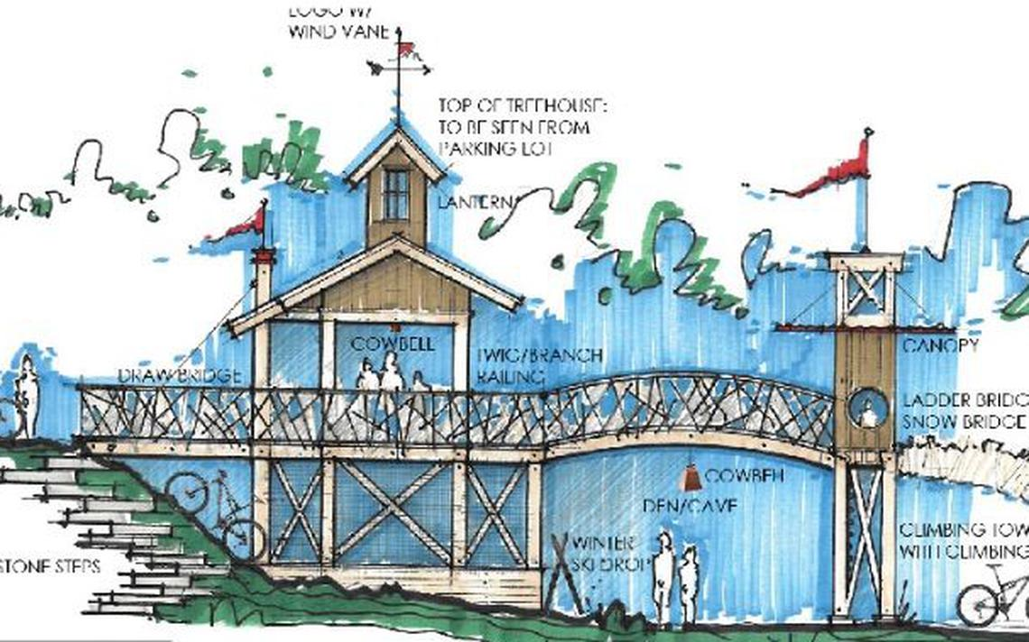 An artist's rendering of the proposed play area improvements at Detroit Mountain. (Submitted image)(Submitted image)