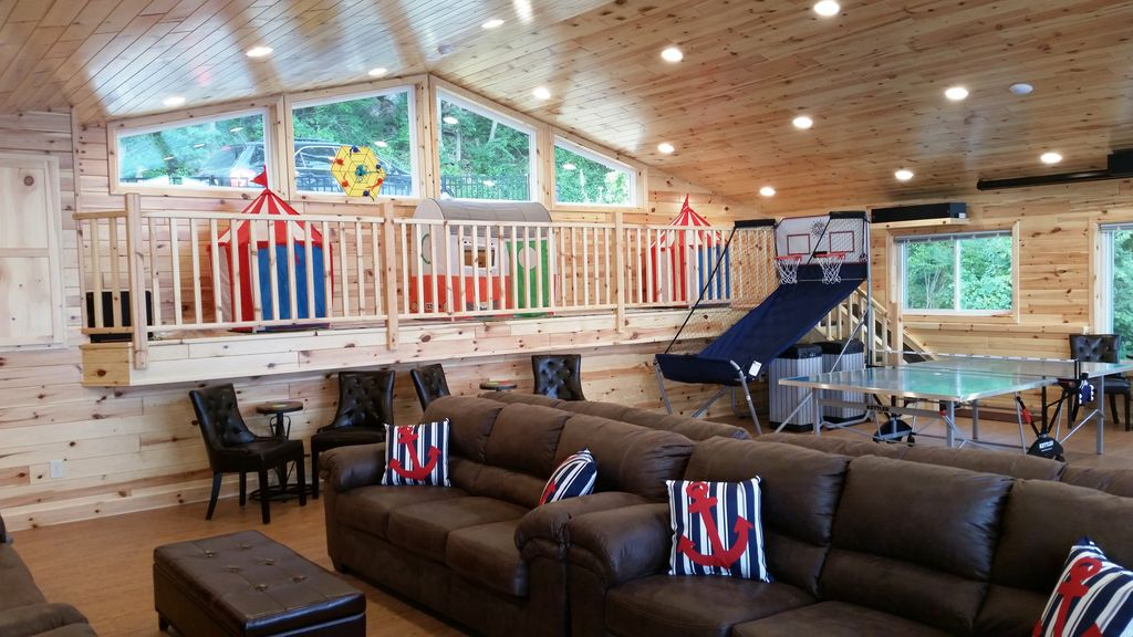 Kid's Play Loft is 29'x5' has kid's tents. The young ones have their own space!