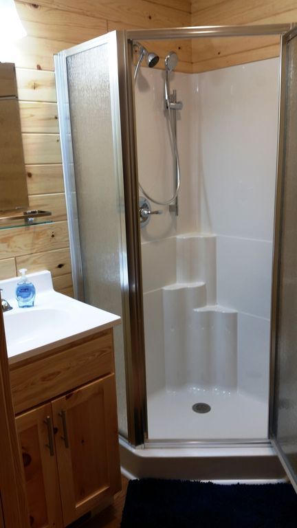 Of the 12 BAs, 4 have corner showers, as pictured.