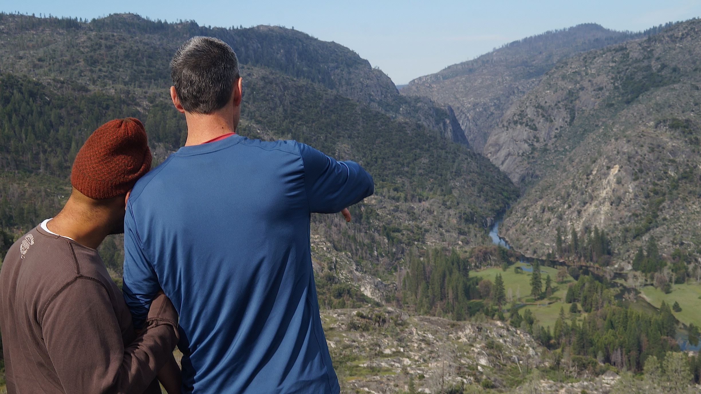 Overlooking Poopenaut Valley, above the Tuolumne River below Hetch Hetchy