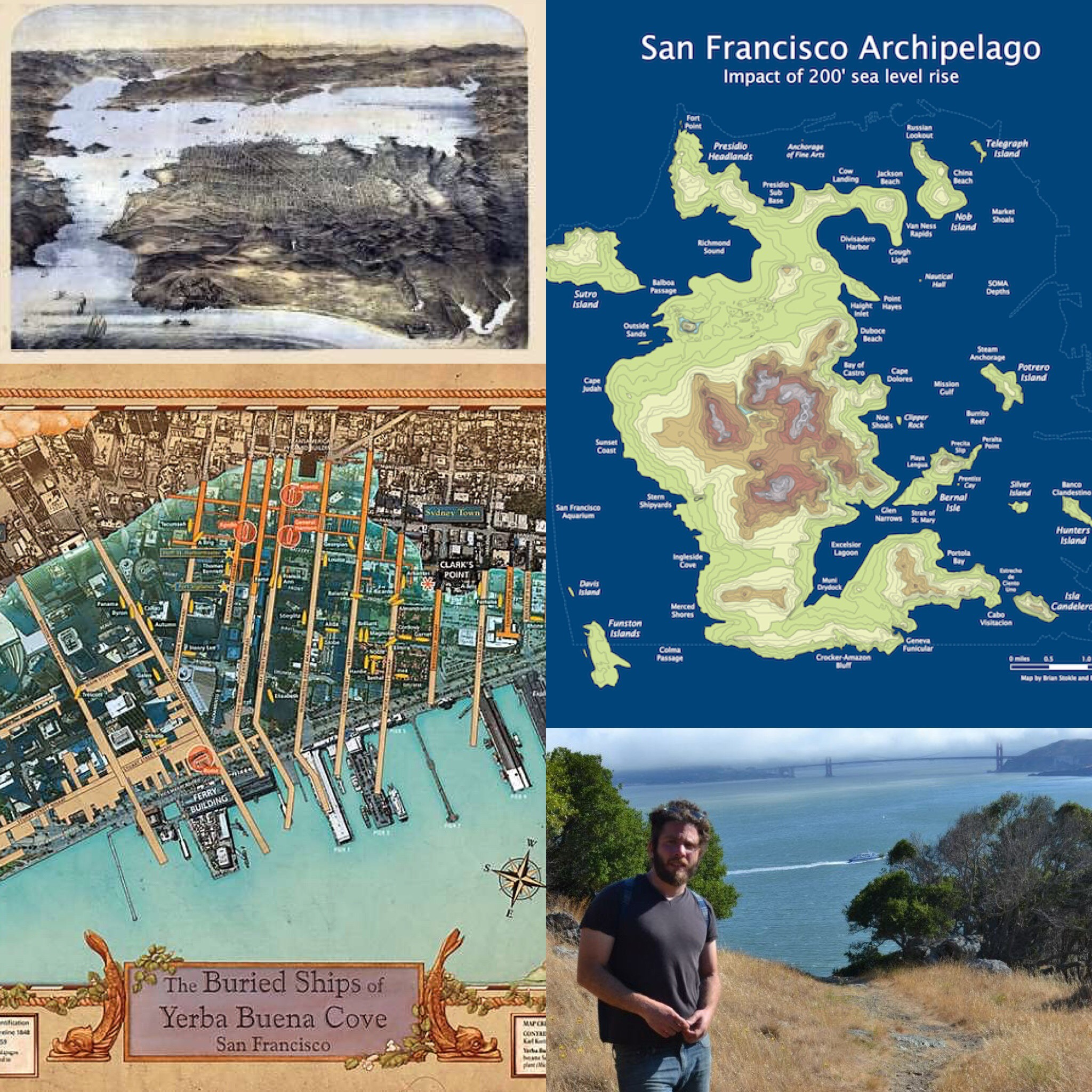 San Francisco Archipelago Map by Burrito Justice  Gold Rush Buried Ship Map by San Francisco Maritime National Historic Park