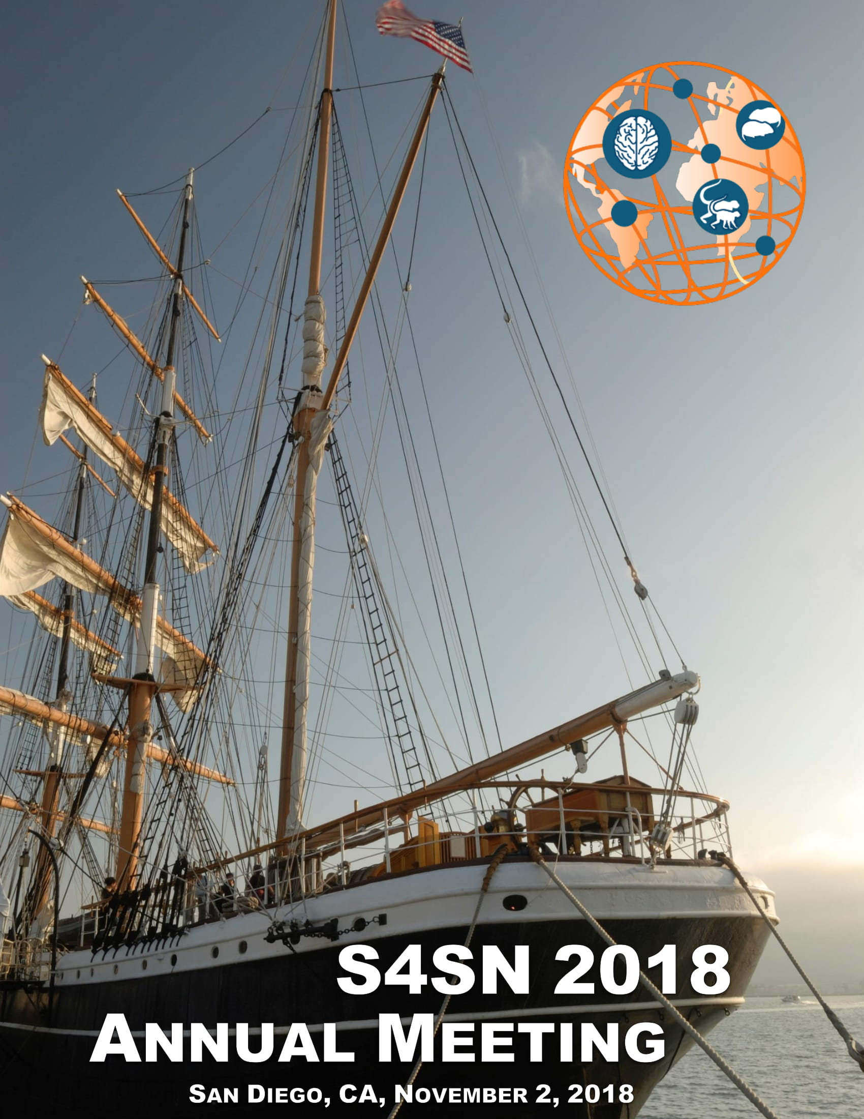 """S4SN 2018 Annual Meeting - The S4SN 2018 Annual Meeting was held in San Diego, CA, November 2, 2018. The meeting consisted of a Keynote address by Larry J. Young, """"The Neurobiology of Social Bonding, Social Loss and Empathy: Implications for Autism"""", Emerging Topics sessions on """"A systems approach to understanding empathy"""" and """"Navigating social relationships using hippocampal networks"""" and two poster session. (See: S4SN 2018 Annual Meeting Printed Program)"""