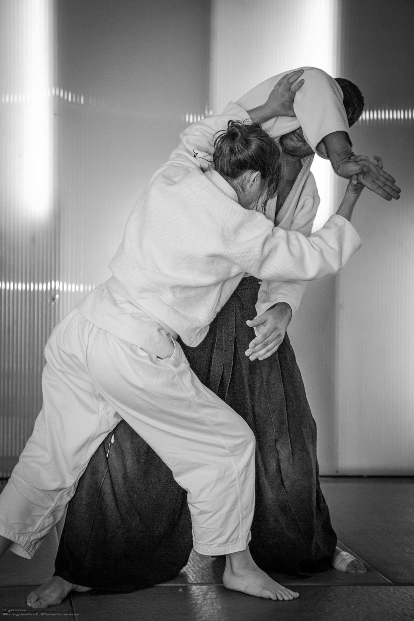 Aikido - is a Japanese martial art that deals with aggression by blending with and redirecting an attack rather than meeting it head on. Its techniques are based on natural flowing motion rather than strength, so aikido is suitable for both sexes and for people of all ages.As well as being an effective form of self-defence, aikido's natural movements help to relax the body and to release stress and tension. Regular practise will improve co-ordination, posture, self confidence, concentration and fitness level.Students can begin by attending any of our classes. No special equipment is required - just loose, comfortable clothing such as tracksuit bottoms and a t-shirt. Classes take place in a friendly, open environment where beginners and more advanced students train together.Want to know more?What is Aikido →