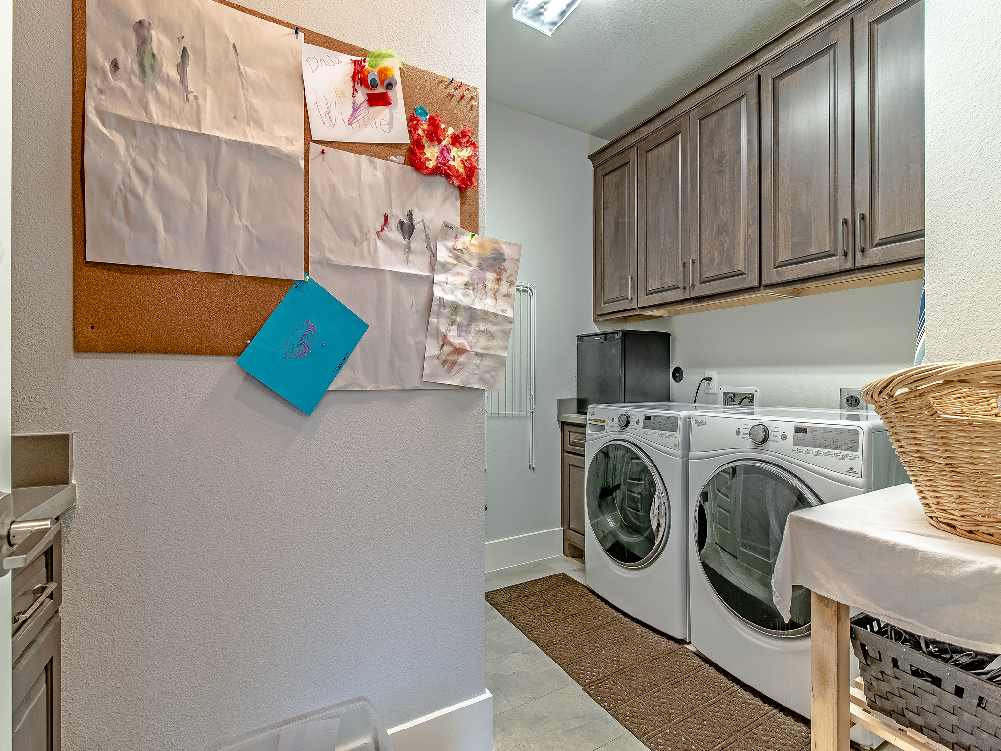 Large laundry is accessible from the hallway but also has a separate entrance from the maser closet.
