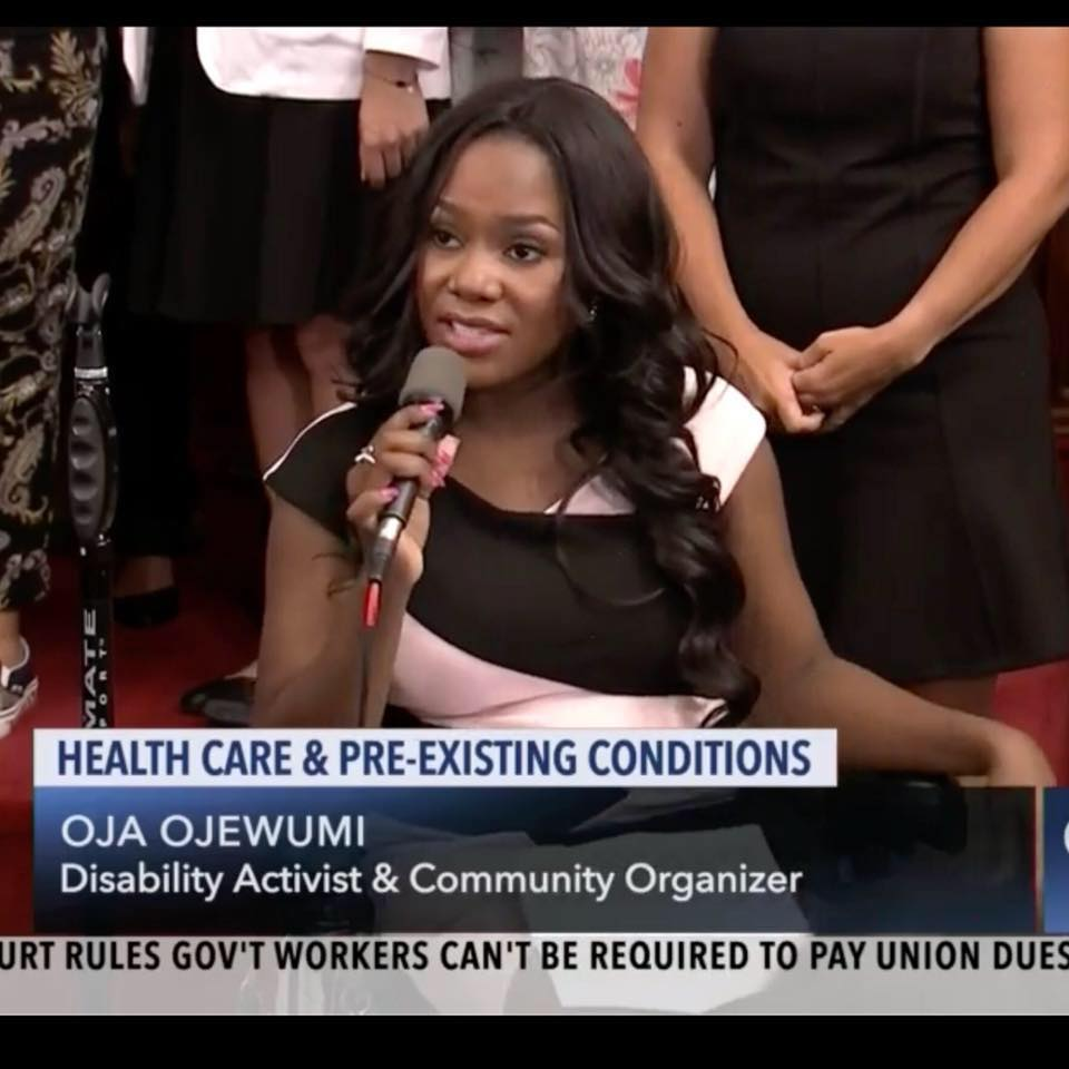 ola ojewumi  talking about healthcare and pre-existing conditions
