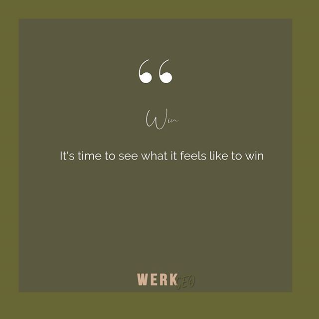 """We all have experienced failure, right? Tell yourself from this point on you want to """"WIN"""""""