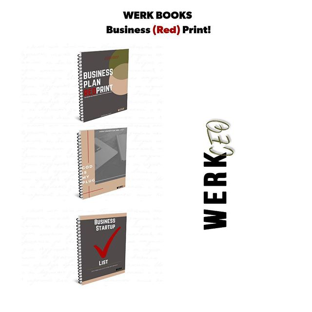 Good morning CEO's! I want to go ahead and share with you a preview of our  Business (RED) Print WERK BOOKS. They will be available for downloads in Jan when we launch WERK CEO. These WERKBOOKS  will be a balance of business and faith. We want to help you reach your next BUSINESS BREAKTHROUGH‼️