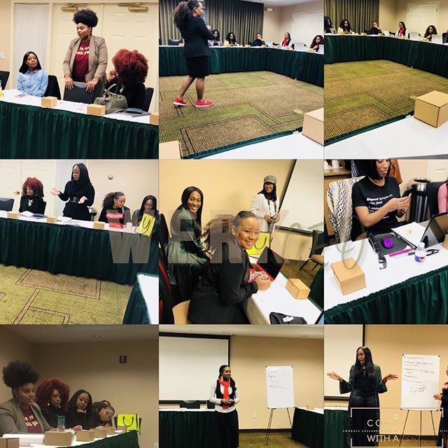 In 2018 WERK CEO hosted two Co - WERKING with a twist WERKShop. Co-WERKING with a twist is where we focus on collaboration over competition and helped CEO's leave with results.  Our werkshops were broken down to focus on: Business plans, Social Media Strategies, Money Budgeting, Non-Profit Organization, Building Connections, DBA, Domains . LLC and more: I can't wait for Volume 3