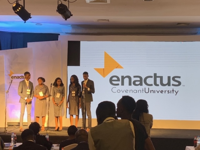 Covenant University Enactus Team Right After Their Presentation